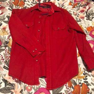 Vintage Red Wool/Acrylic Pendleton.